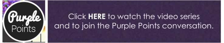 purple points banner