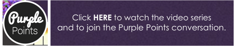 purple points banner